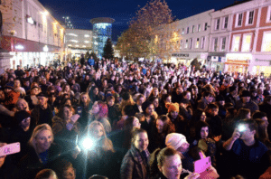 Blackburn Comes Alive Christmas Lights switch on