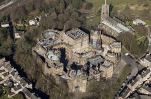 Lancaster Castle landmark aerial View